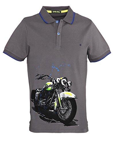 shockly Herren Poloshirt aus Piqué 4X4102 Grey