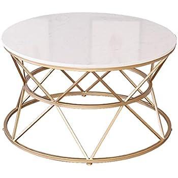 Table basse simple plateau en marbre blanc structure en Plateau marbre pour table