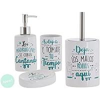 Dcasa - Set de baño frases original de cerámica para cuarto de baño .