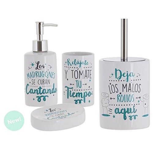 Dcasa - Set de baño frases original de cerámica para cuarto de...