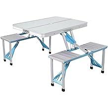 Lixada Portatile Lega di Alluminio Pieghevole Sedie Tavoli Apparecchiata Partito Picnic All'aperto Cenare Campeggio 4 persona