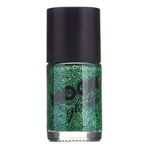 Holographischer Glitzer Nagellack von Moon Glitter - 14ml - Grün Grün 14