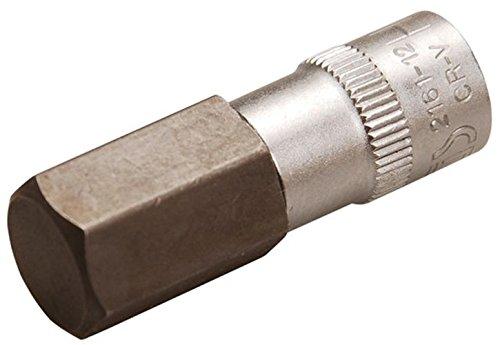 Bgs Bit Douille, intérieur 6 pans, 6,3 mm, 1/4, 12 mm, 2161–12