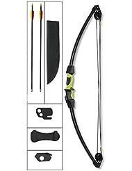 Kit Arco Compuesto De 12 LBS Y 75 FPS Hellbow De Color Negro Y Verde
