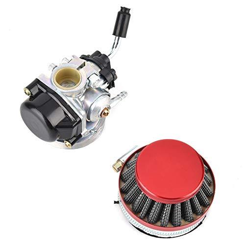 Motorrad Vergaser & Luftfilter Kit 49ccm 50ccm 80ccm Passend für 37ccm 50ccm 80ccm 2-Takt Motorfahrrad