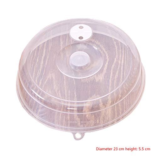 Yujum Platten-Abdeckung Anti-Spritzer-Deckel für Mikrowelle mit Dampf Vent Bowl Food Protection Dome Kunststoff -