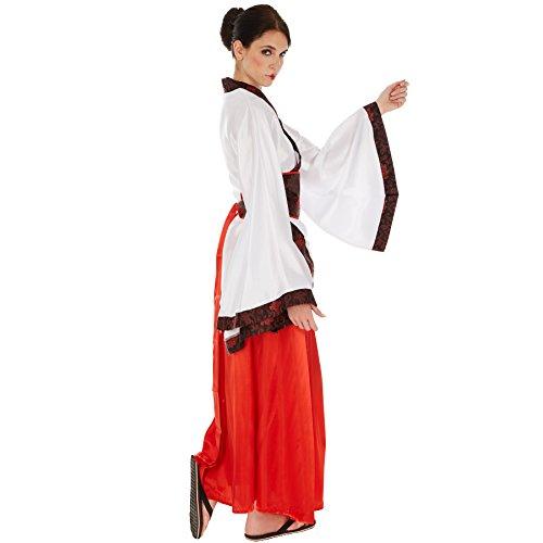 Imagen de disfraz de asiática chino para mujer | kimono de satén brillante | incl. faja muy práctica xxl | no. 301024  alternativa
