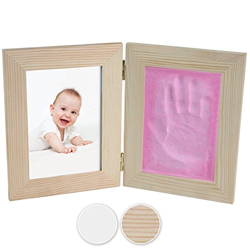 Jago Bilderrahmen aus Holz zum Aufklappen (in verschiedenen Farben und Sets) mit Modellier Knetmasse (1er Set
