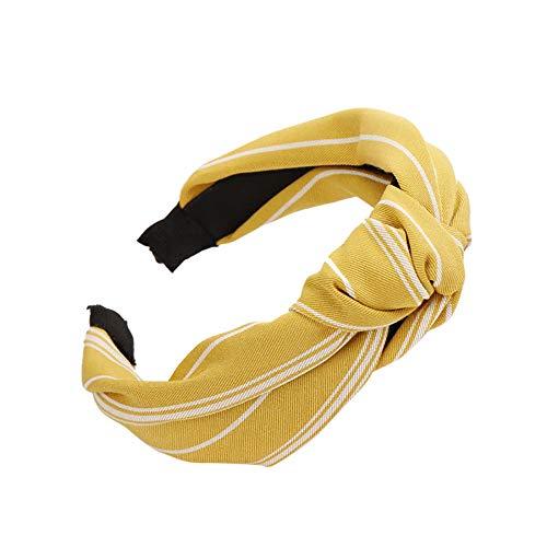 Honestyi Mode Bogen Knoten Haarband Frauen Haar Kopf Hoop Einfache süße Mädchen Stirnband 18 778 Haarschmuck Stoff geknotet breitkrempigen Haarnadel -