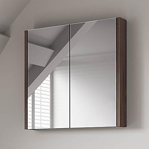 600 x 650 mm Modern Walnut Bathroom Mirror Cabinet Bathroom Furniture
