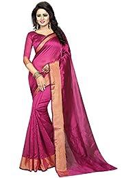 G Stuff Fashion Women cotton saree with Blouse Piece