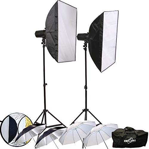 Dslr 300W 2x150W Photo Studio Strobe-Blitz-Licht Monolight Set Kit W/Wireless-Trigger Softbot Modellierung Lampe -