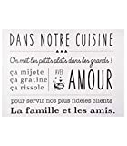 Atmosphera - Sticker Texte Cuisine 50X70