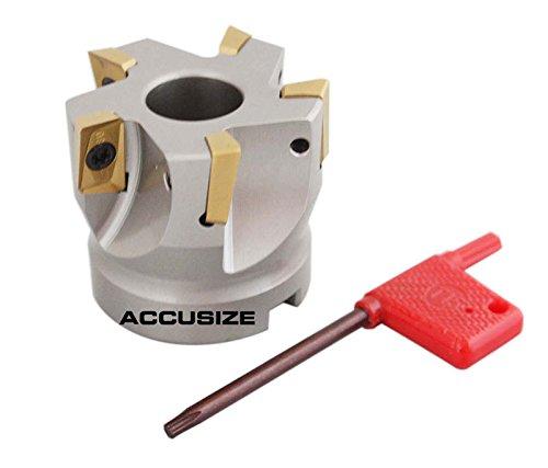 accusize–5,1cm X 3/10,2cm 90°. Quadratische flaschenschulter indexable Face Mühle w/APKT1604Fügt, # 4508–0012