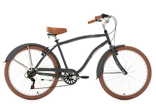 KS Cycling Herren Fahrrad Beachcruiser Cruizer, anthrazit, 26, 757B
