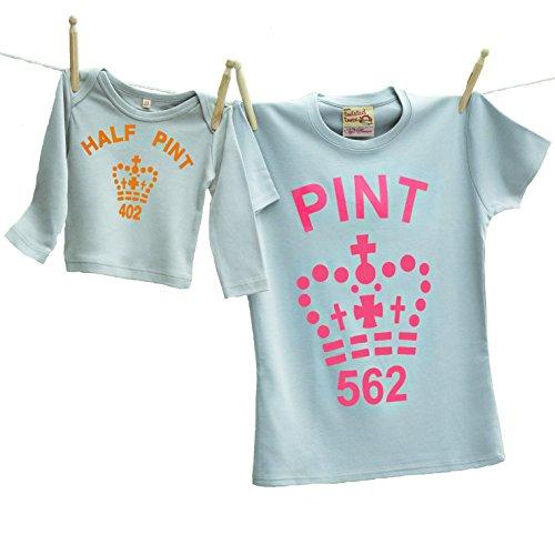 50a73b4b Twisted Twee - Camiseta para mamá y Mitad de Pintura, Color Gris