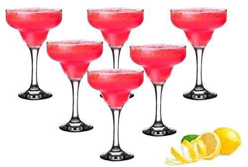 Sendez 6-teiliges Margarita Gläser Marguerita Margarita Bargläser Cocktailgläser Margaritagläser