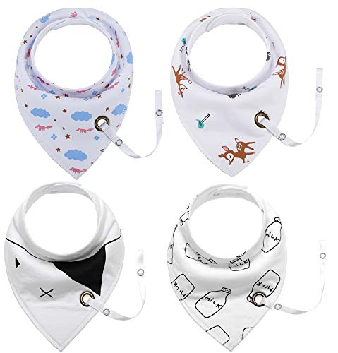 5d4ae8fd6c5a Baby Bandana Drool Bibs Cotton Unisex Baby Bids for Drooling and Teething  (Style 01)