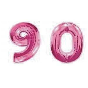 Ballons géants de numéros roses 90e