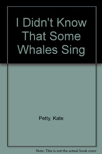 Whales can sing