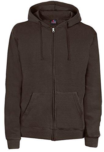 SUMG Apparel Unisex Kapuzenjacke Kapuzen Sweat-Jacke 'BASIC Hooded Zipper' (XL, schoko braun)