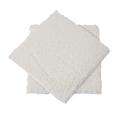 Teppiche Für Schlafzimmer Voller Wildleder Kids Square, Wasserabsorbierende Anti-Rutsch-Matte, Kostenlose Splice Multi-Color Optional, 100x100cm (Farbe : Ivory White) - Ivory Square Teppich