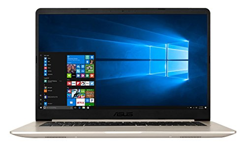 ASUS VivoBook S510UA-BQ202T 15.6-inch Gold Laptop Intel Core i7-7500U 2.7 GHz / 3.5 GHz Max Turbo Processor, 8GB RAM, 256GB SSD, Full HD Display (1920 x 1080 Resolution), Light Weight, Backlit Keyboard, Windows 10 Home - S510UA-BQ202T