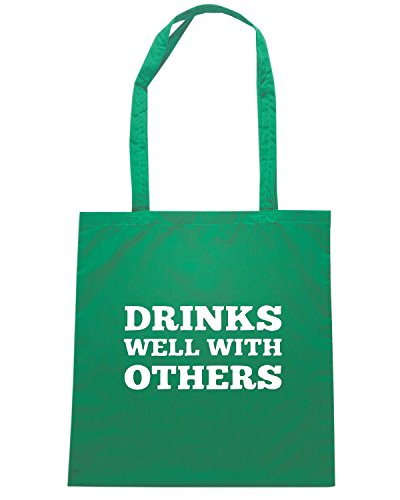 T-Shirtshock - Borsa Shopping TIR0043 drinks well with others tshirt Verde
