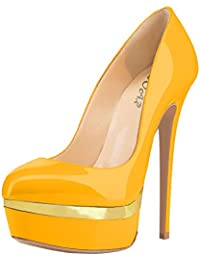 LongFengMa - Zapatos de tacón mujer , color negro, talla 38