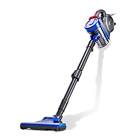 PUPPYOO Stick Vacuum Cleaner with Turbo Brush 4-in-1 Corded Cyclonic Vac Blue WP3009