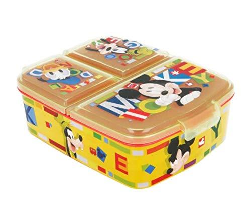 ose / Lunchbox / Sandwichbox wählbar: Frozen PJ Masks Spiderman Avengers - Mickey - Paw aus Kunststoff BPA frei - tolles Geschenk für Kinder (Mickey Mouse) ()