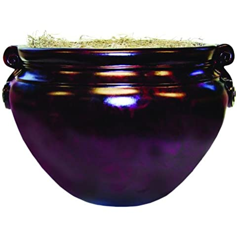 Fiberglass Floor Pot for Artifical Trees, 16 Diameter, Mahogany, Sold as 1 Each