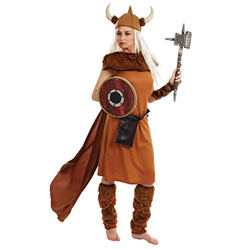 (Fun Shack Damen Costume Kostüm, Womens Viking, Größe S)