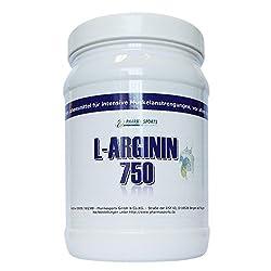 L-Arginin 750 Pulver - PREMIUM Qualität - gewonnen durch pflanzliche Fermentation 750g in Dose