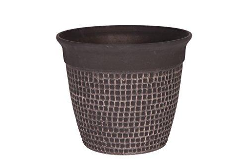 Cera-Mix Vaso da fiori, per piante Roca, resistente al gelo e leggero, Marrone, 41x35cm