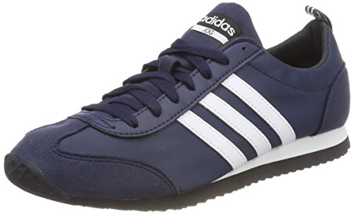 new product cdf95 72d1a adidas Herren VS Jog Sneaker Blau (Collegiate Navy Footwear White Core Black )