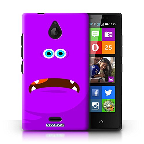 Kobalt® Imprimé Etui / Coque pour Nokia X2 Dual Sim / Pourpre conception / Série Monstres Pourpre