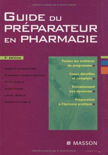 Guide du préparateur en pharmacie par Brigitte Charpentier