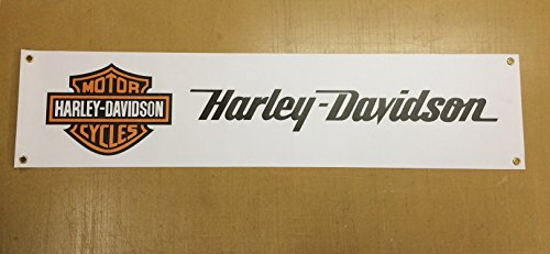 Harley Davidson Enthusiasten PVC Garage, den, Man Cave, Dekoration PVC-Banner 5ft x 1ft (Harley Davidson 5x)