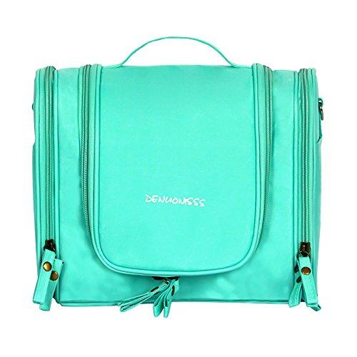 Zhi Jin de voyage pliable à suspendre à maquillage Organiseur de sac de toilette Poignée Sacs de rangement Grande capacité vert vert clair
