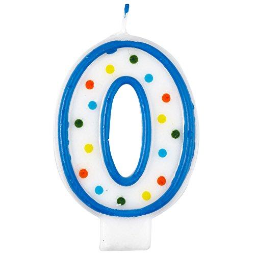 Amscan 99007747,5cm lunares Número 0Vela de cumpleaños