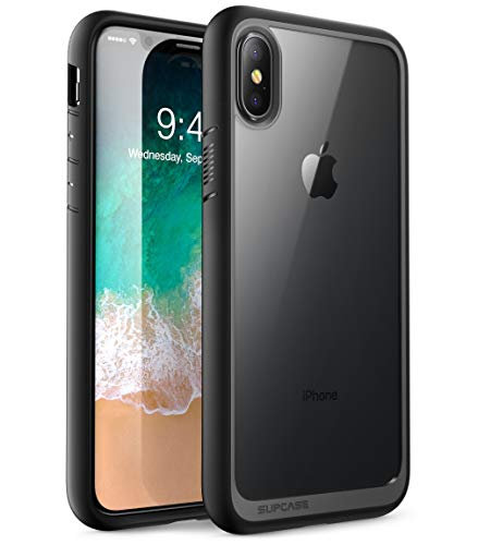 SUPCASE iPhone XS Max Hülle Premium Case Hybrid Handyhülle Transparent Schutzhülle Backcover [Unicorn Beetle Style] für Apple iPhone XS Max 6.5 Zoll 2018 (Schwarz)