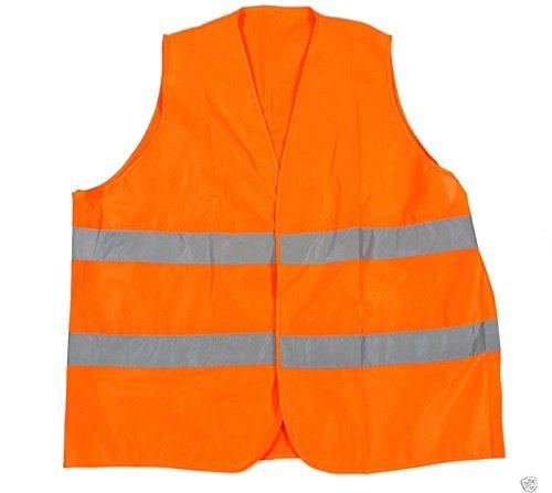 Übergrößen Warnweste / Sicherheitsweste in Orange in großen Größen von 6XL – 10XL