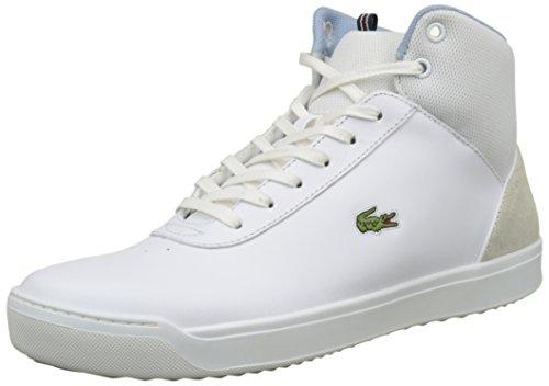 Lacoste Explorateur Ankle 317 2, Baskets Hautes Femme Blanc (Wht)