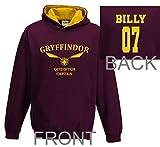 Personalised harry potter hoodie gryffindor kids