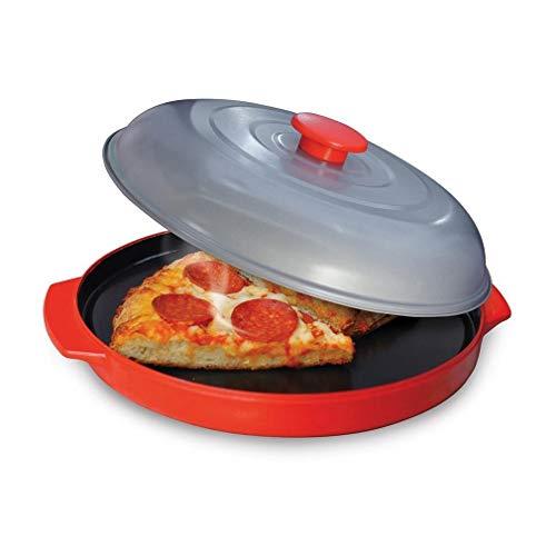 Mikrowellenherd Non-Stick Backblech Pizza-Käse-Ei-Speck Abtauen Backblech (Color : Red)