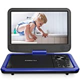 COOAU 12.5 ' Portable DVD Player with Eye-Protected HD Swivel Screen, 5-Hours