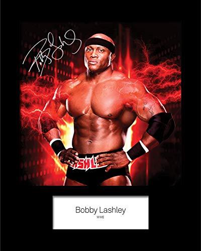 Bobby Lashley #1 WWE-Unterschrift, Foto-Nachdruck, 25,4 x 20,3 cm, passend für 25,4 x 20,3 cm große Rahmen, maschinell geschnitten, Geschenk zum Sammeln