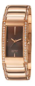 Esprit Collection Karpo Women's Quartz Watch with Brown Dial Analogue Display and Stainless Steel Rose Gold Plated Bracelet EL102002F04