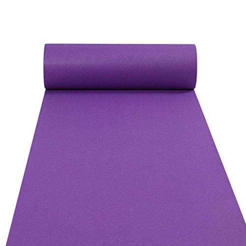 (JH Teppichläufer für Hall Stair Party Hochzeit Hochzeit Aisle Carpet Runner Teppich Floor Runner Echtes Lila (Color : Purple, Size : 1.2m*20m))